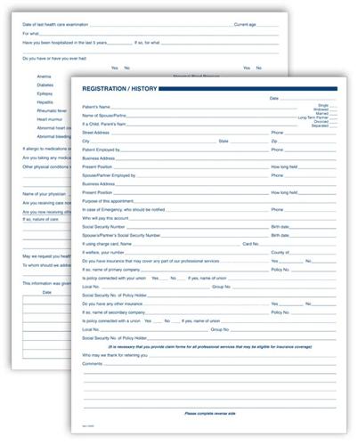 Dental patient registration form template visualbrainsfo dental patient registration form template altavistaventures Gallery