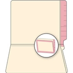 Pink Border Manila Reinforced End File Folders