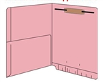 Pink 11 pt Reinforced 2-Ply End Tab Half Pocket Folders
