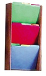 Oak / Acrylic 3 Tier File Folder Organizer