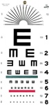 Illiterate eye test chart