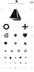 Kindergarten eye test chart