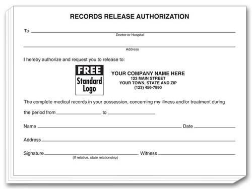 Patient Records Release Authorization Pads