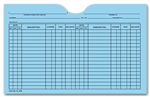Histacount 5L40B Printed Card File Pocket
