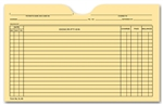 Histacount 5L60B Printed Card File Pocket