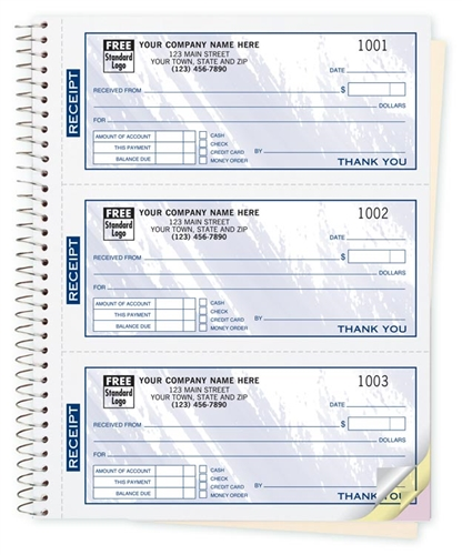 cash receipt book imprinted