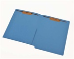 Color 11pt Reinforced 2-Ply End Tab Half Pocket Folders