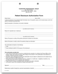 Patient Disclosure Authorization HIPAA