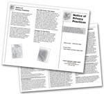 Notice of Privacy Practices HIPAA Trifold Brochure