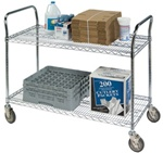 Heavy Duty Utility Cart, 2-Shelf