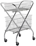 "Wire Mail/File Cart, 24""W"