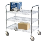 Heavy Duty Utility Cart, 3-Shelf