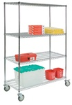 "4-Shelf Wire Cart 54"" Unit"