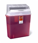 3Gallon Biohazard Multipurpose Sharps Container Red