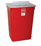 10 Gallon  Sharps Red Container