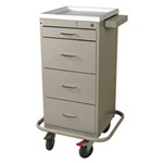 Mini Punch Card Cart (Tall Cabinet)  with Key Lock,  Includes Internal Narcotics Box, Capacity of 240 cards