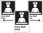 Care Staff Area Sign