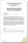 Personalized Notice of Privacy Practices HIPAA Form