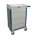 Standard Punch Card Cart with BEST Lock Specialty Package Includes: Drawer Tray with Dividers,  Waste Container and  Locking Sharps Container Capacity of 360 Cards