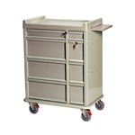 Standard Punch Card Cart with BEST  Lock, Specialty Package Includes:  Drawer Tray with Dividers,  Small Drawer Divider Set,  Waste Container and  Locking Sharps Container Capacity of 480 Cards