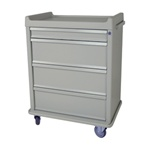 Standard Punch Card Cart with BEST Lock Specialty Package Includes: Drawer Tray with Dividers,  Waste Container and Locking Sharps Container Capacity of 540 Cards