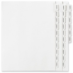 Avery Style Collated Exhibit Tab Divider Set A-Z.