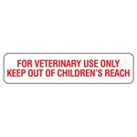 Veterinary Label